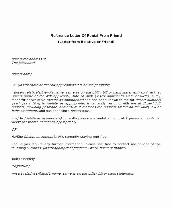 Reference Letter Vs Recommendation Letter Awesome Living Rent Free Letter Template Landlord Plaint Letter