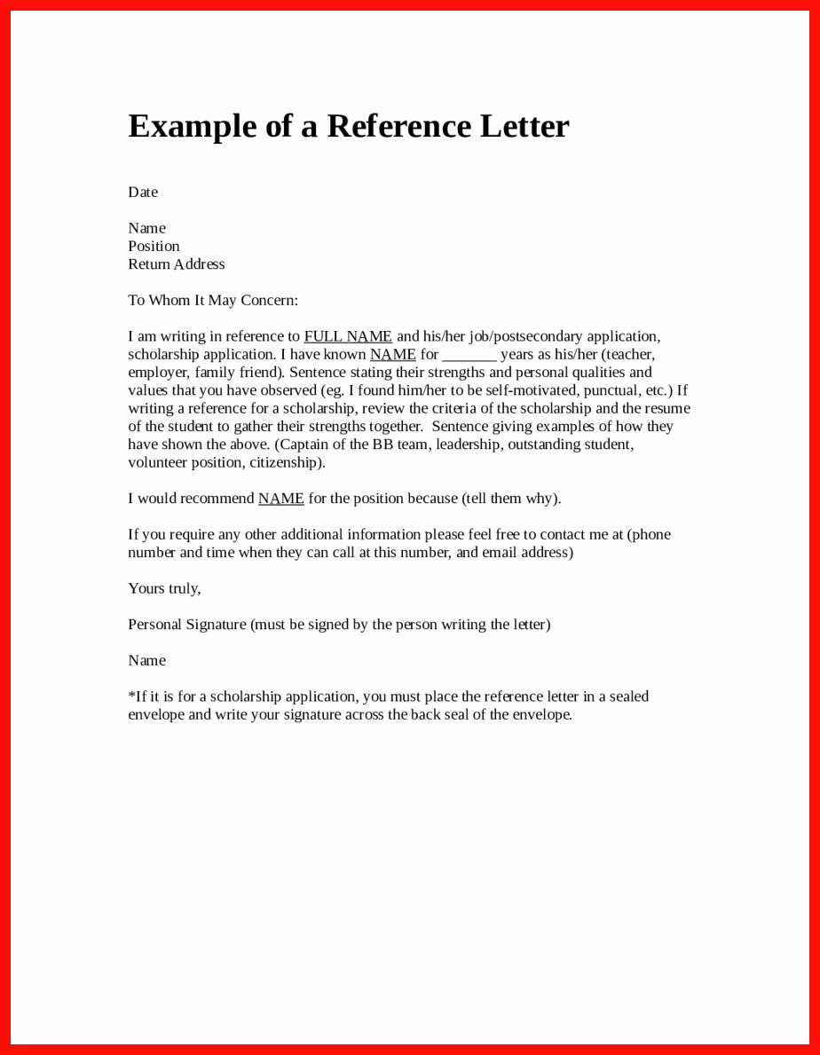 Reference Letter Vs Recommendation Letter Luxury How to Structure A Letter
