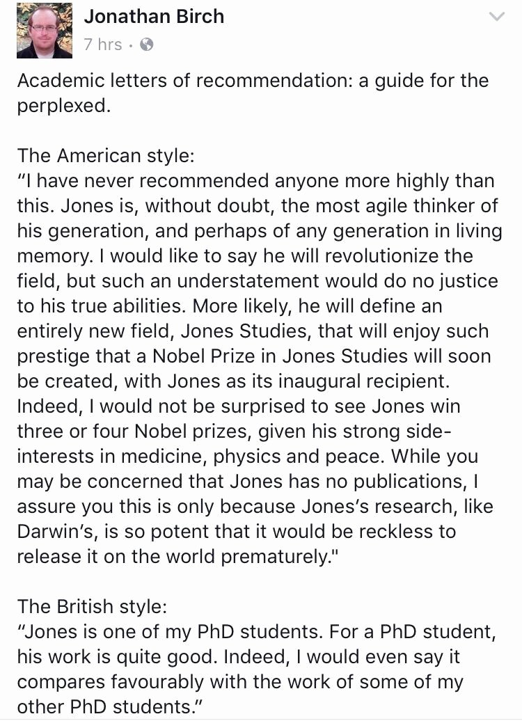 """Reference Letter Vs Recommendation Letter Luxury Shit Academics Say On Twitter """"american Vs British"""