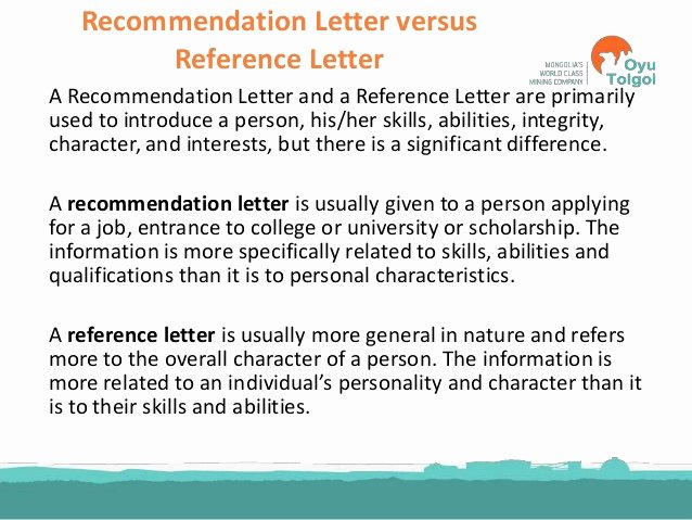 References Vs Letter Of Recommendation Awesome Personal Statement Cover Letter Re Mendation Letter