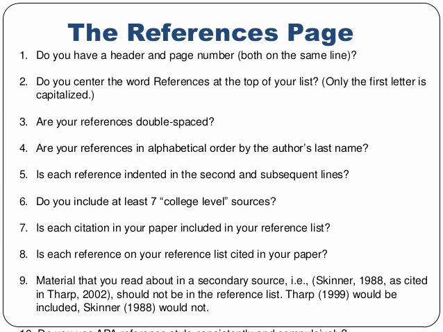 References Vs Letter Of Recommendation Fresh Apa Citation
