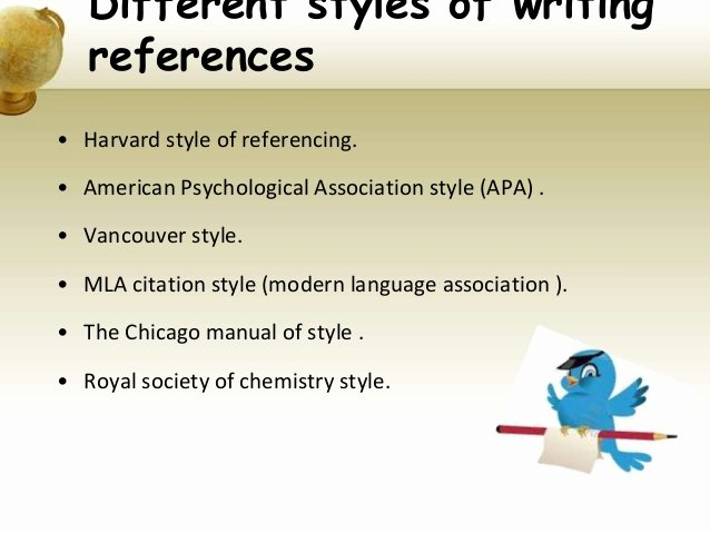 References Vs Letter Of Recommendation Luxury Different Style Of Referencing