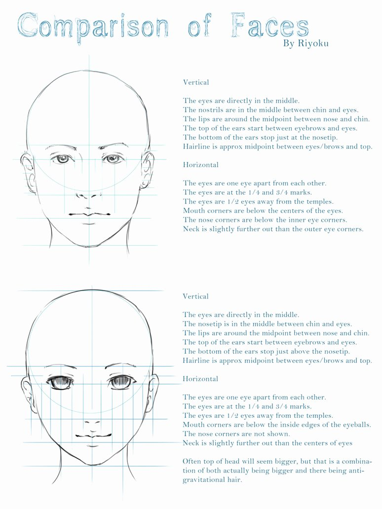 References Vs Letter Of Recommendation Luxury Facial Reference Realistic Vs Anime by Nyanfood On