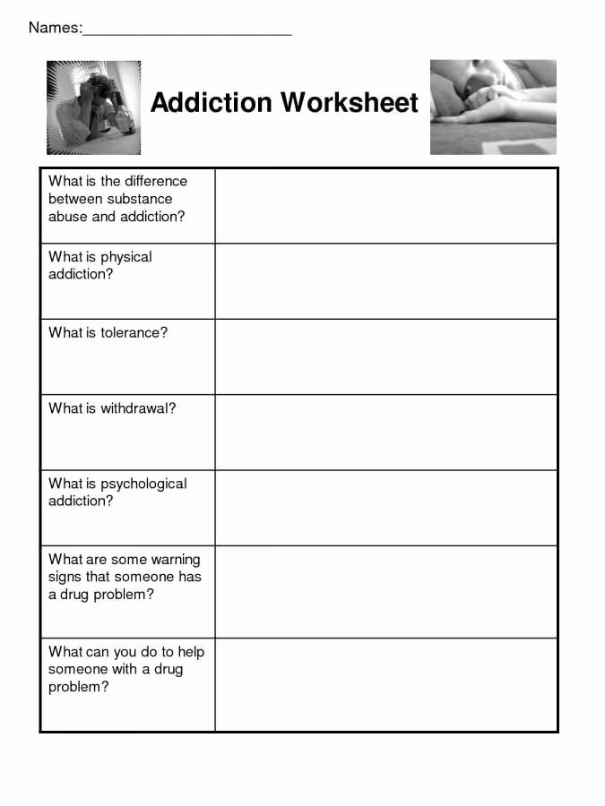 Relapse Prevention Plan Worksheet Template Fresh Relapse Prevention Plan Worksheet Worksheets