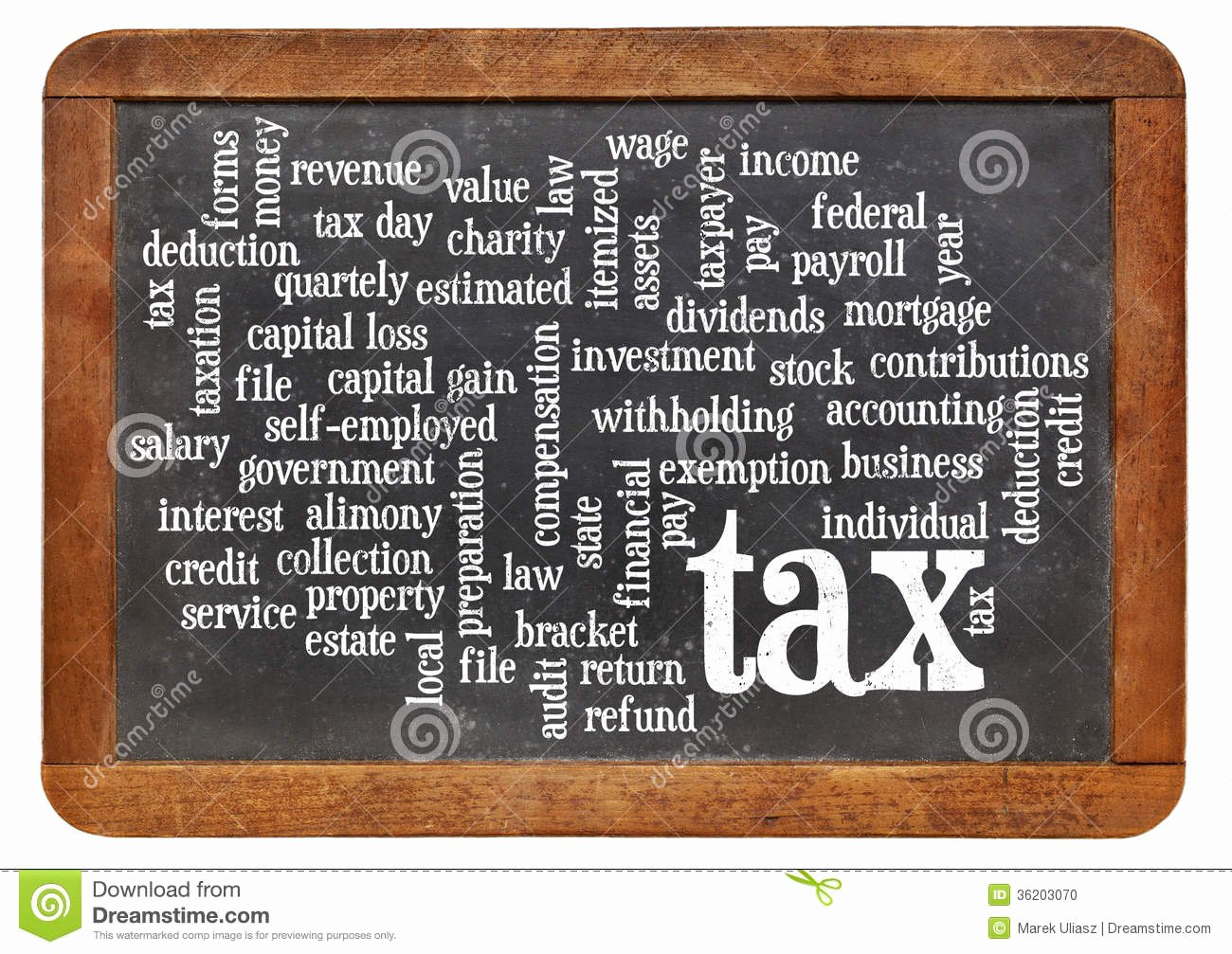 Related Words for Payment Awesome Tax Word Cloud Blackboard Stock Image Of Salary