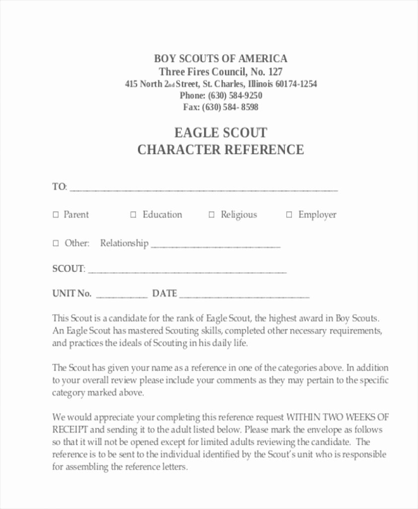 Religious Recommendation Letter Sample Awesome Eagle Scout Letter Re Mendation Religious Example