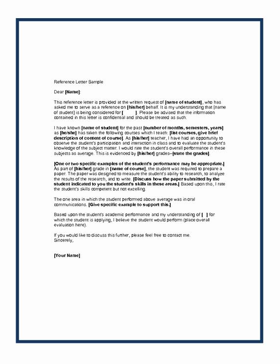 Religious Recommendation Letter Sample Elegant Letter Of Re Mendation format