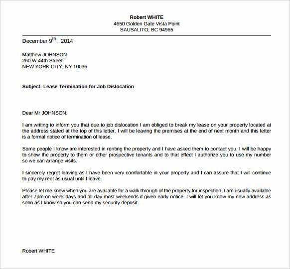 Relocation Agreement Letter Best Of Termination Letters – 18 Free Word Pdf Documents