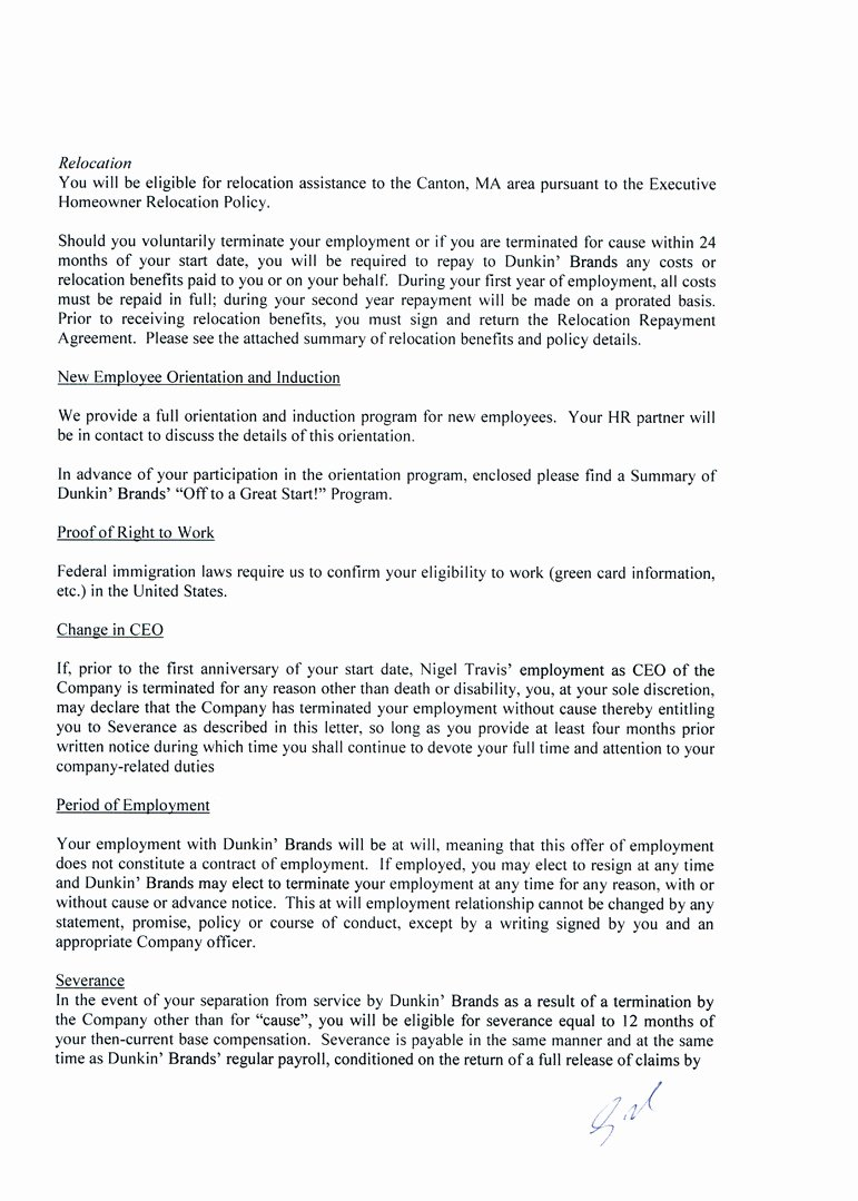 Relocation Agreement Letter Luxury Page 3