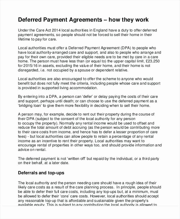 Relocation Agreement Letter Unique Partial Payment Installment Agreement form Free Contract