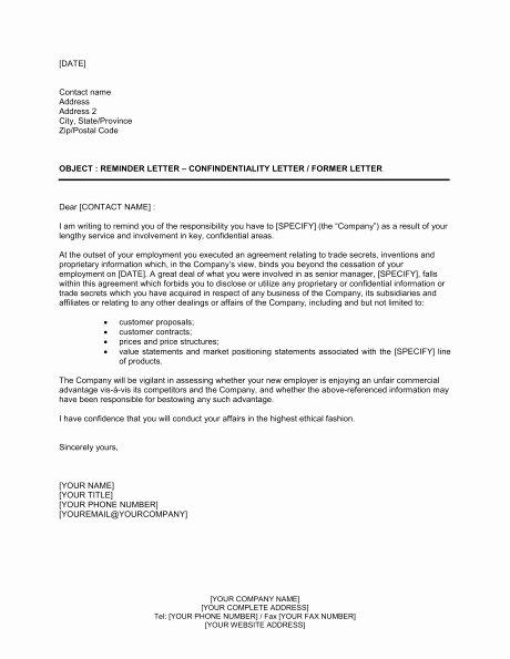 Reminder for Recommendation Letter Inspirational Confidential Letter format Letter Of Re Mendation