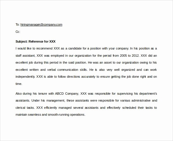 Reminder for Recommendation Letter New 7 Email Reference Letter Templates to Download