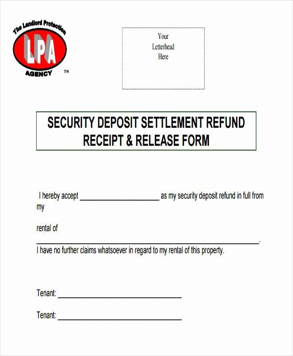 Rent Deposit Receipt Template Lovely 37 Free Receipt Templates