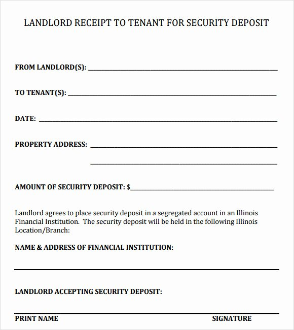 Rent Deposit Receipt Template Unique Deposit Receipt Template 9 Free Download for Pdf Word