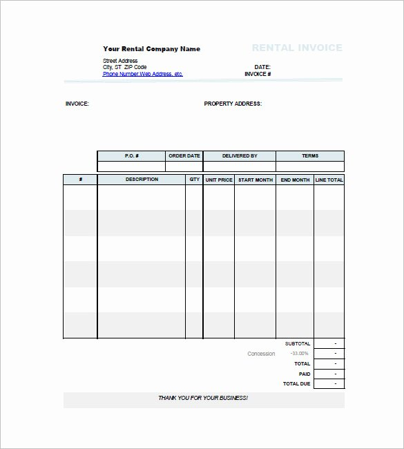 Rent Invoice Template Pdf Inspirational Car Invoice Templates 18 Free Word Excel Pdf format