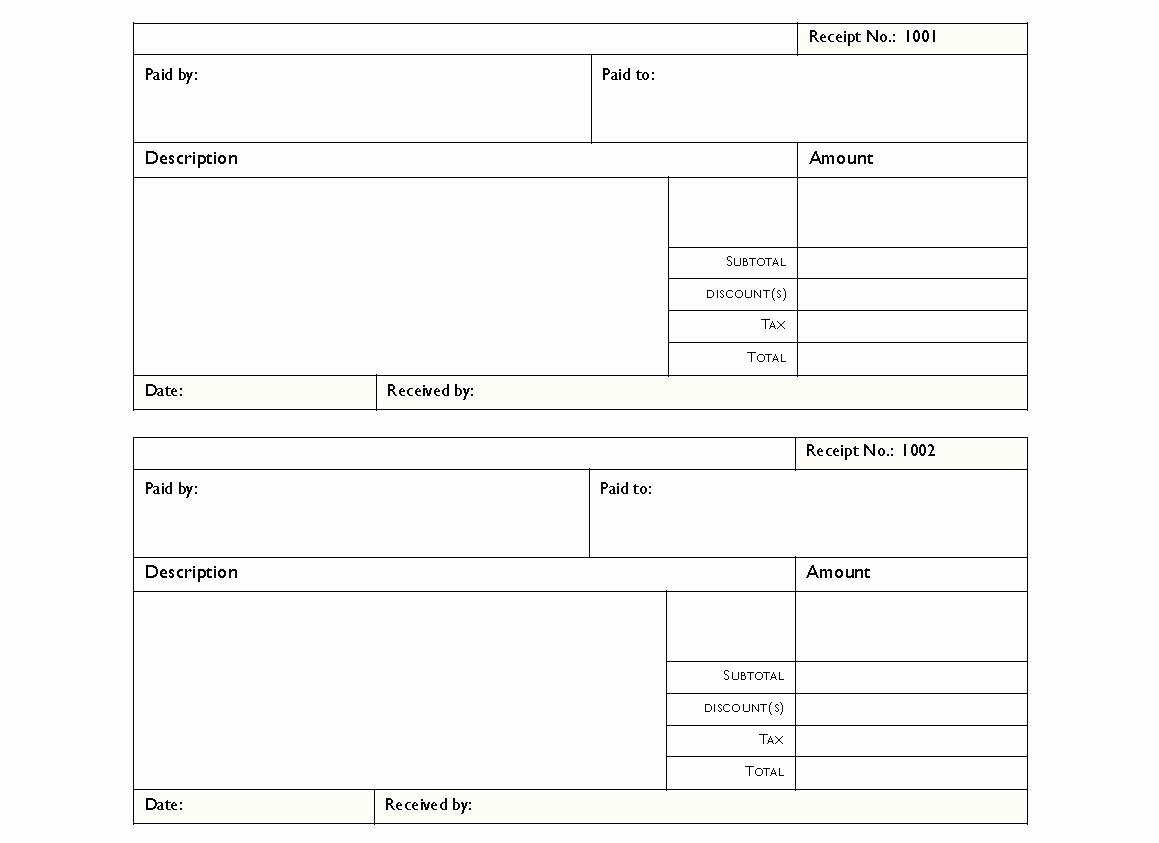 Rent Invoice Template Pdf Inspirational format for House Rent Receipt Loaner Car Agreement form