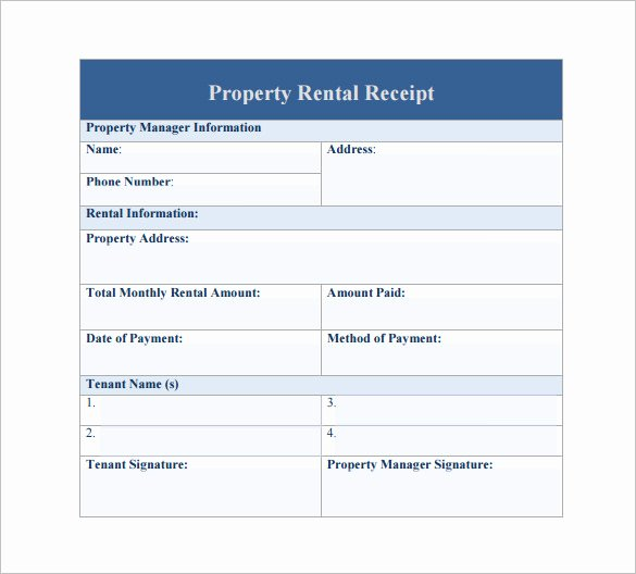 Rent Invoice Template Word Lovely 27 Rental Receipt Templates Doc Pdf