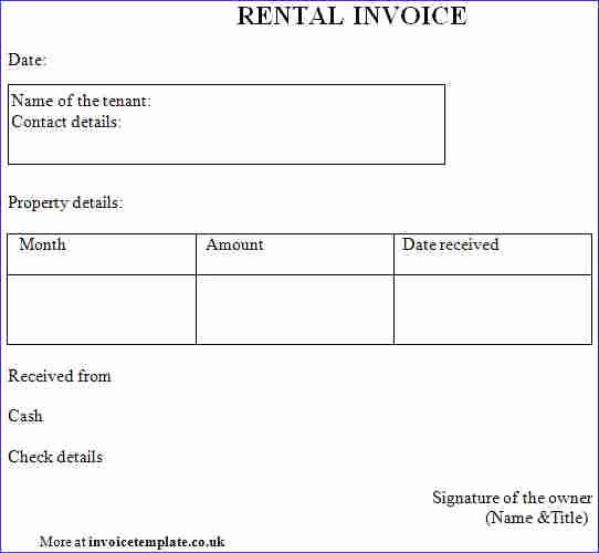 Rent Invoice Template Word Unique Rent Invoice Template Word Denryokufo