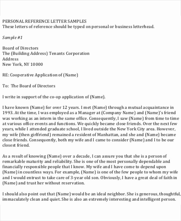 Rent Letter Of Recommendation Inspirational 5 Work Reference Letter Template 5 Free Word Pdf
