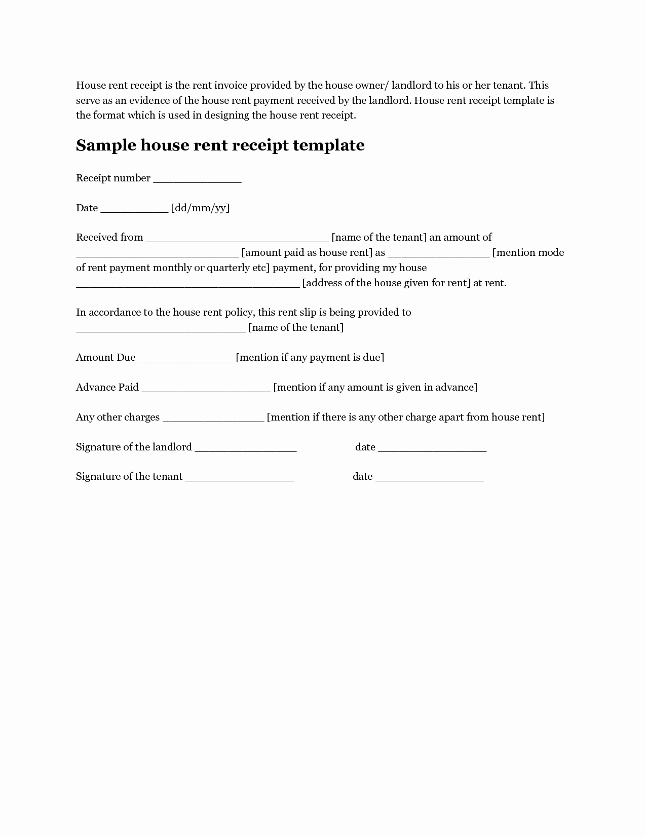 Rent Money Future Download Awesome Free House Rental Invoice