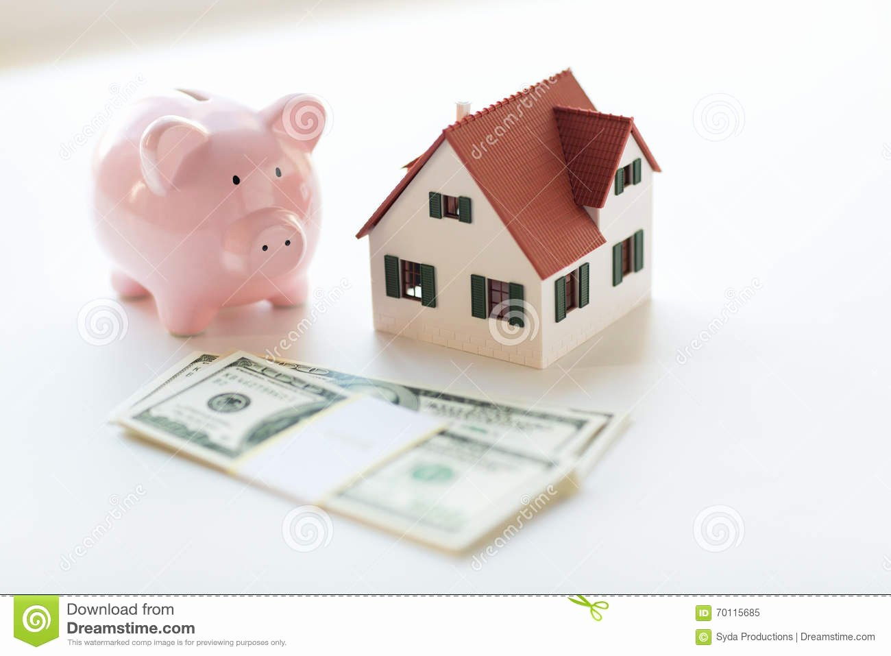 Rent Money Future Download Lovely House Money and Piggy Bank Stock Image