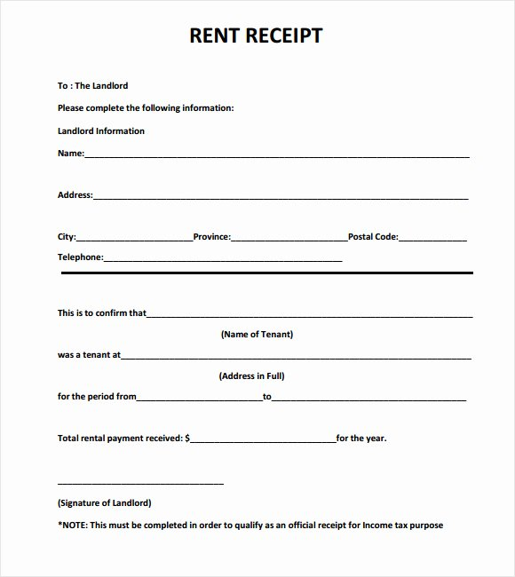 Rent Payment Receipt Template Best Of Monthly House Rent Payment Receipt Template Sample for