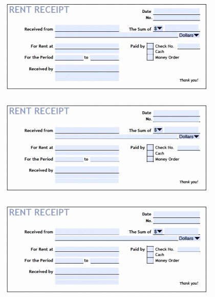 Rent Payment Receipt Template Lovely Download Printable Rent Receipt Templates Pdf