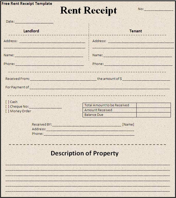 Rent Payment Receipt Template Unique Receipt Templates