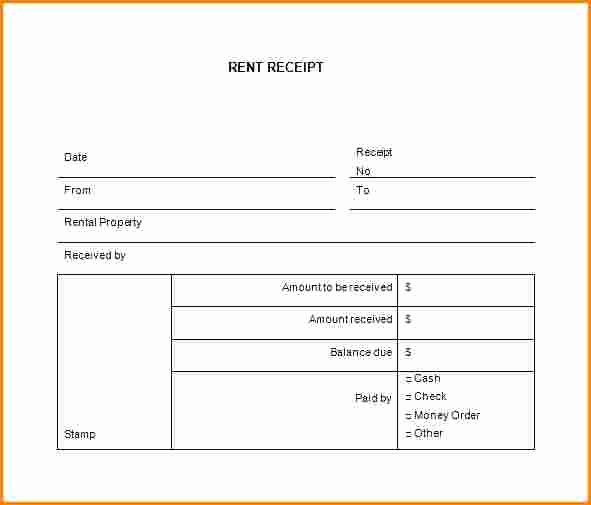 Rent Receipt Filled Out Awesome 7 Rent Receipt Book Template Free