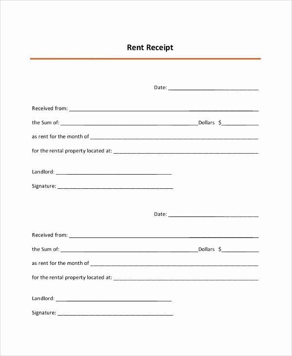 Rent Receipt Filled Out Inspirational 9 Sample Rent Receipts