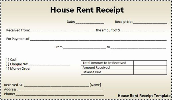 Rent Receipt Filled Out Lovely How to Use Rent Receipt Template On Behance