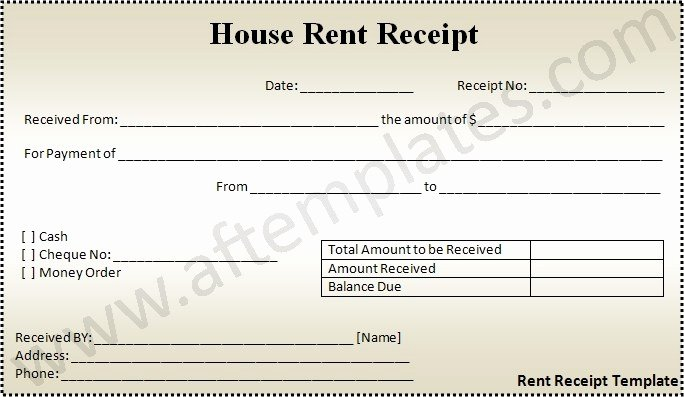 Rent Receipt Template Excel Awesome Rent Receipt Template