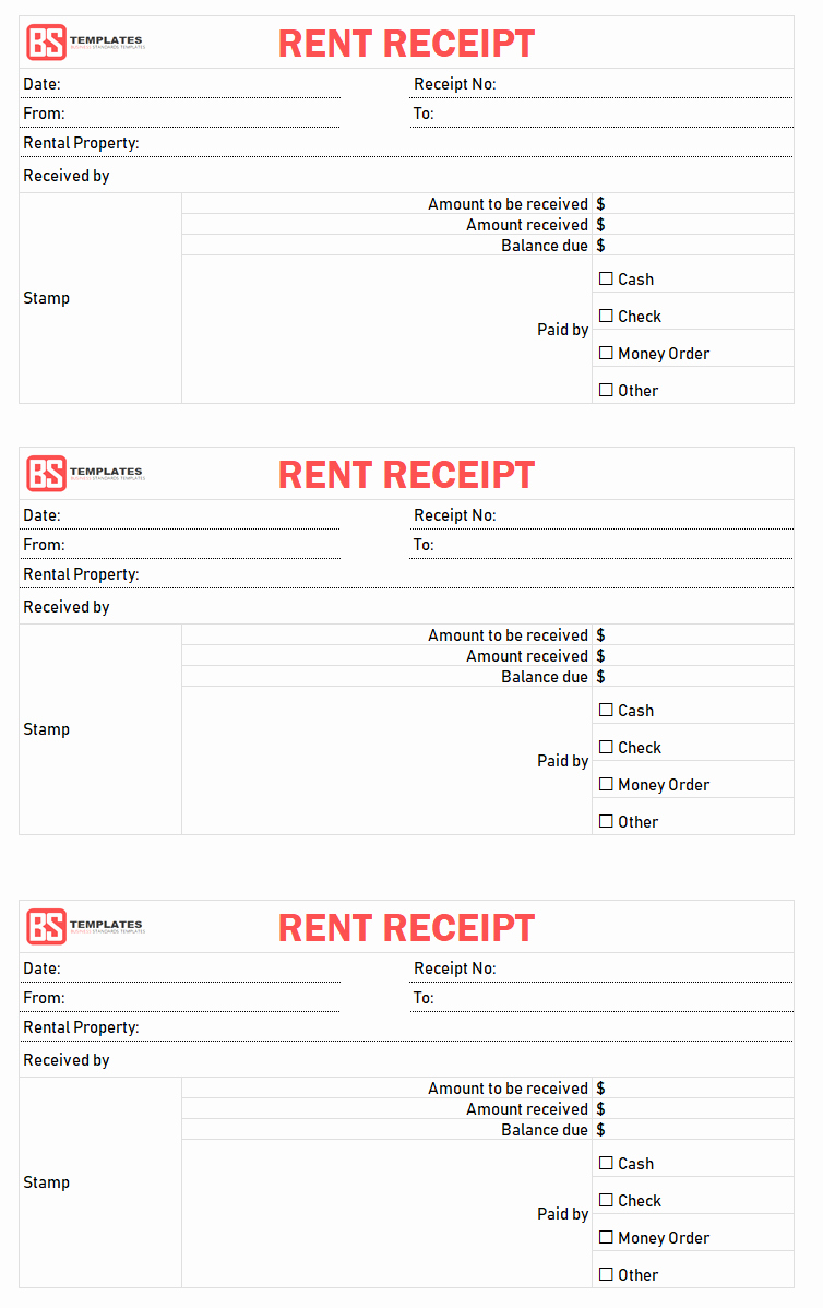 Rent Receipt Template Excel Best Of Rent Receipt Template