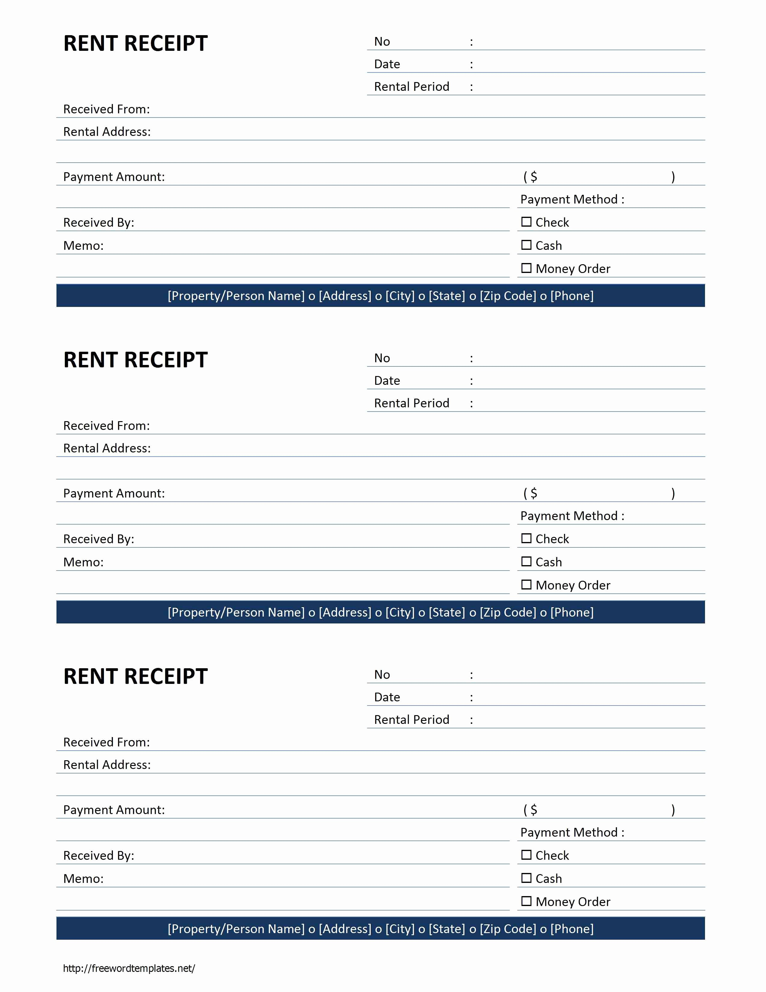 Rent Receipt Template Free Awesome Rent Receipt Template