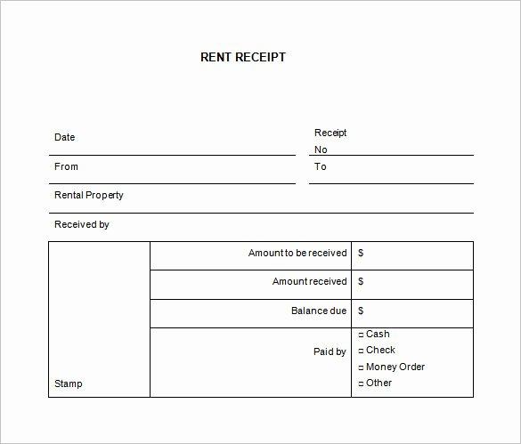 Rent Receipt Template Free Elegant 27 Rental Receipt Templates Doc Pdf