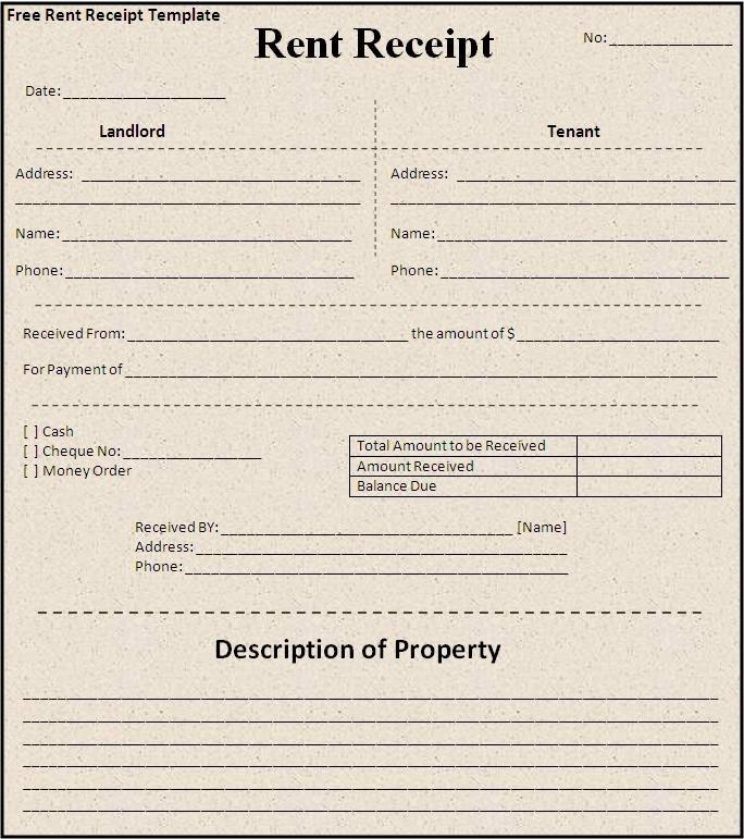 annual rent receipt