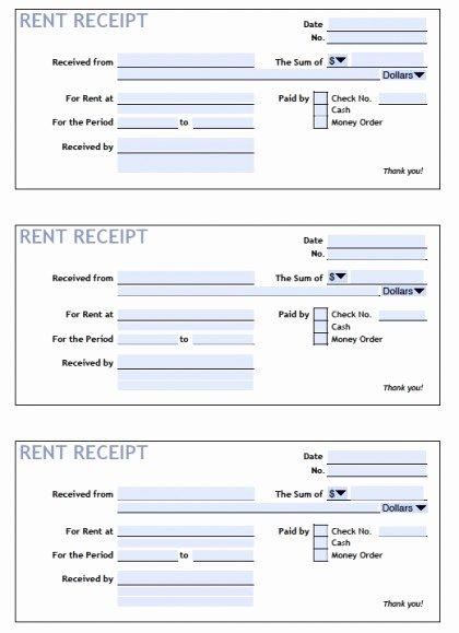 Rent Receipt Template Free Inspirational Download Printable Rent Receipt Templates Pdf