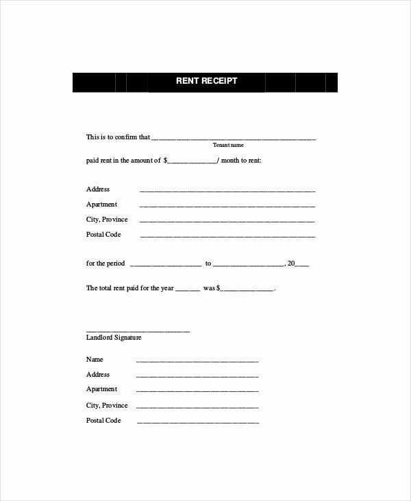 Rent Receipt Template Free Inspirational Rent Receipt Template 11 Free Word Pdf Documents