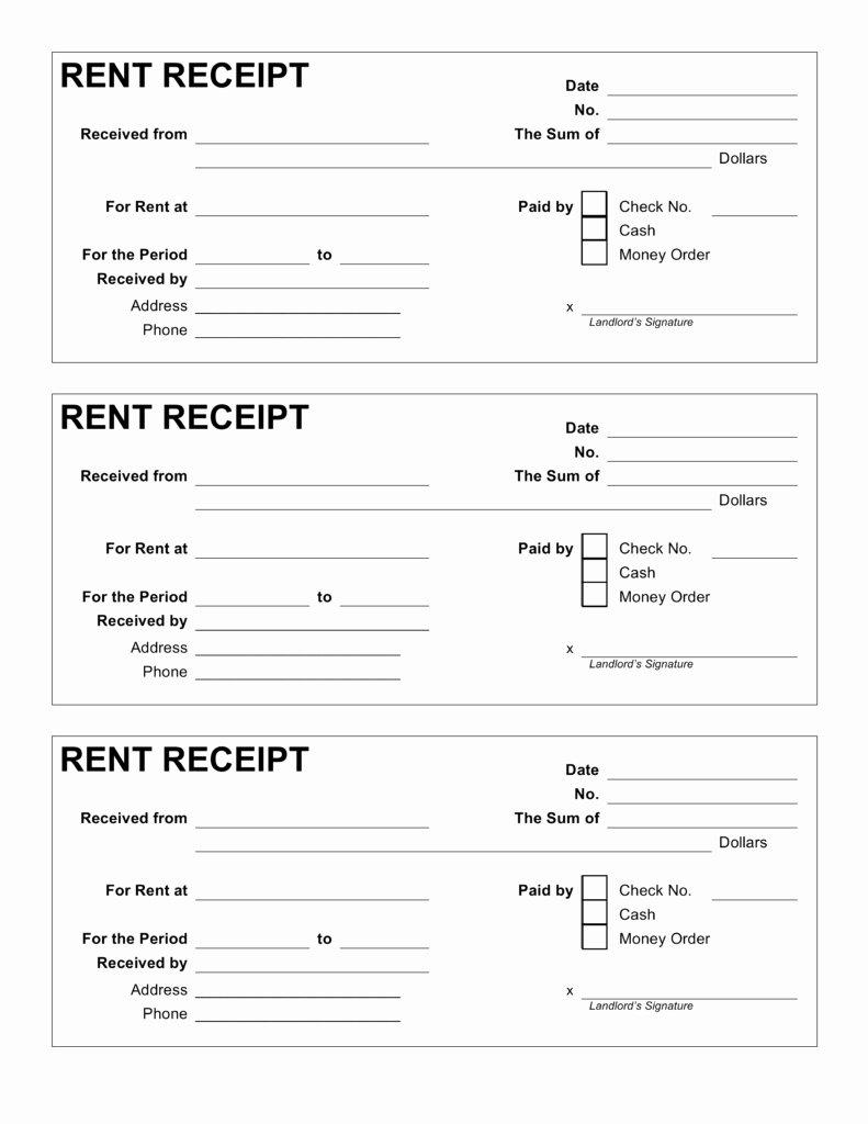 Rent Receipt Template Free Inspirational Rent Receipt Template