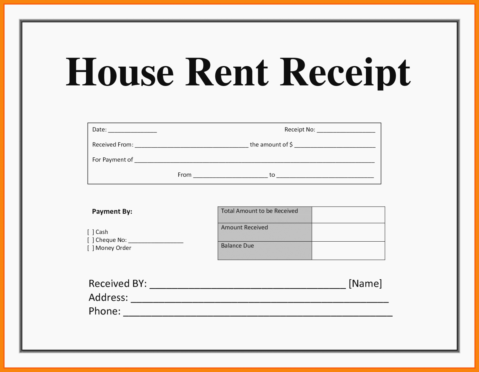 Rent Receipt Template Pdf Best Of Everything You Need to