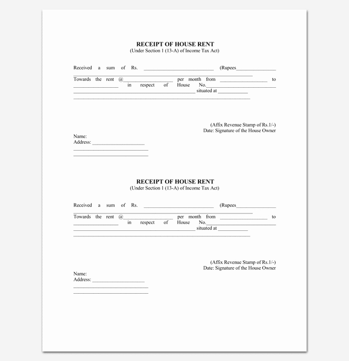 Rent Receipt Template Pdf Lovely Rent Receipt Template 9 forms for Word Doc Pdf format