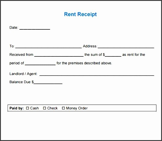 Rent Receipt Template Pdf New 5 Blank Rent Receipt Template Sampletemplatess