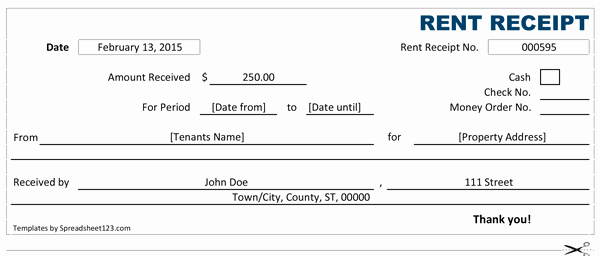 Rent Receipt Template Pdf Unique 14 Rent Receipt Templates Excel Pdf formats