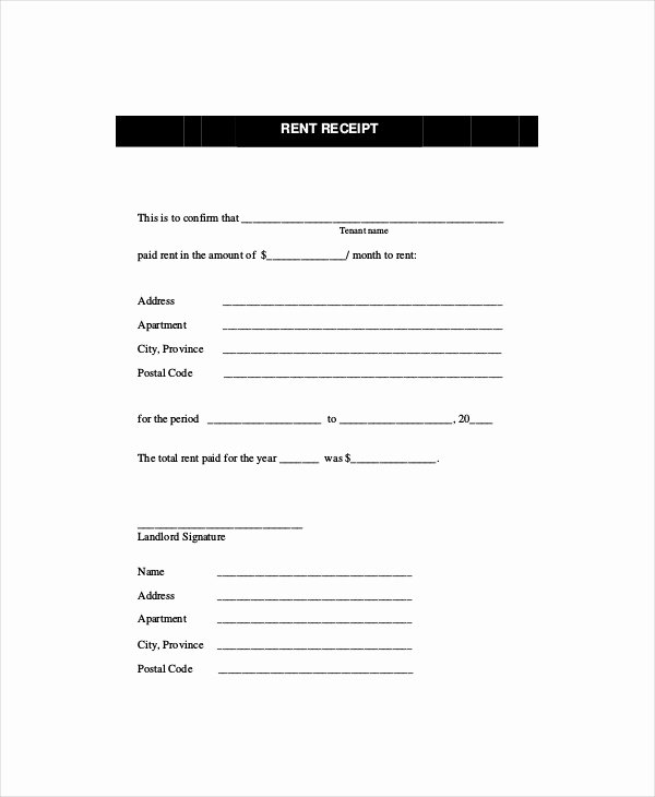 Rent Receipt Template Word Fresh Rent Receipt Template 11 Free Word Pdf Documents