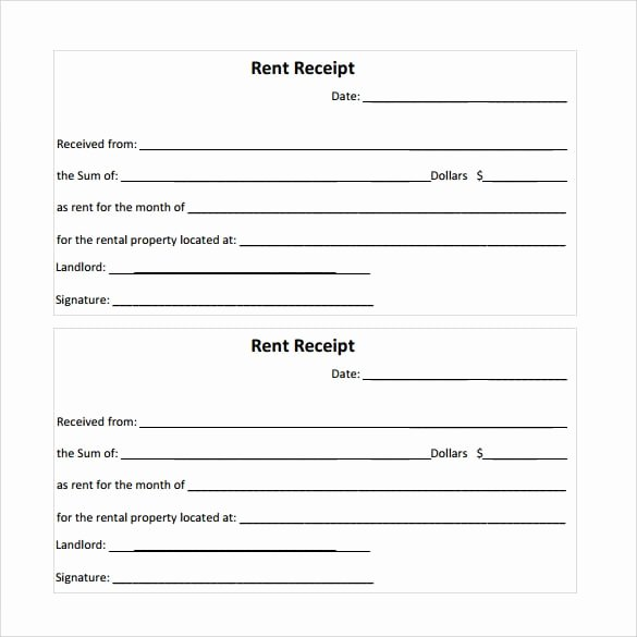 Rent Receipt Template Word New Rent Receipt Templates
