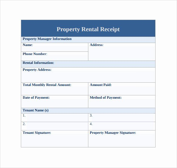 Rent Receipt Templates Free Awesome 21 Rent Receipt Templates