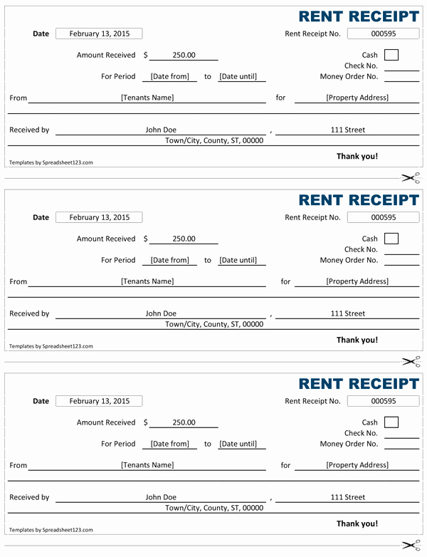 Rent Receipt Templates Free Beautiful Rent Receipt