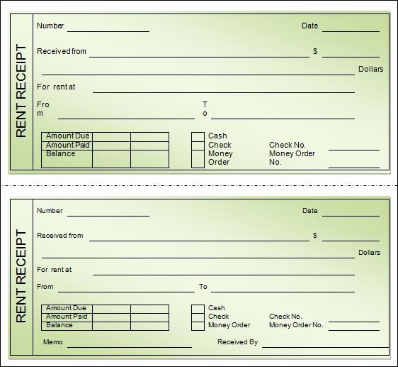 Rent Receipt Templates Free Fresh Best Rent Receipt Template Receipt Templates