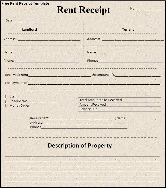 Rent Receipt Templates Free New Sample House Rent Receipt