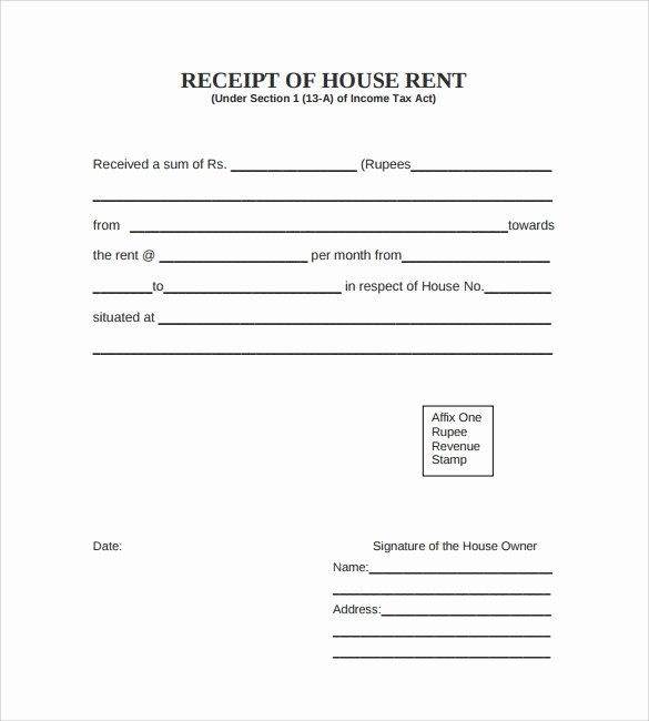 Rent Receipt Templates Free Unique 7 Rent Receipt Templates – Free Samples Examples format